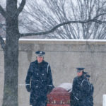 US Army Honor Guard in Section 59 in the snow | Arlington Photography | Arlington media, inc.