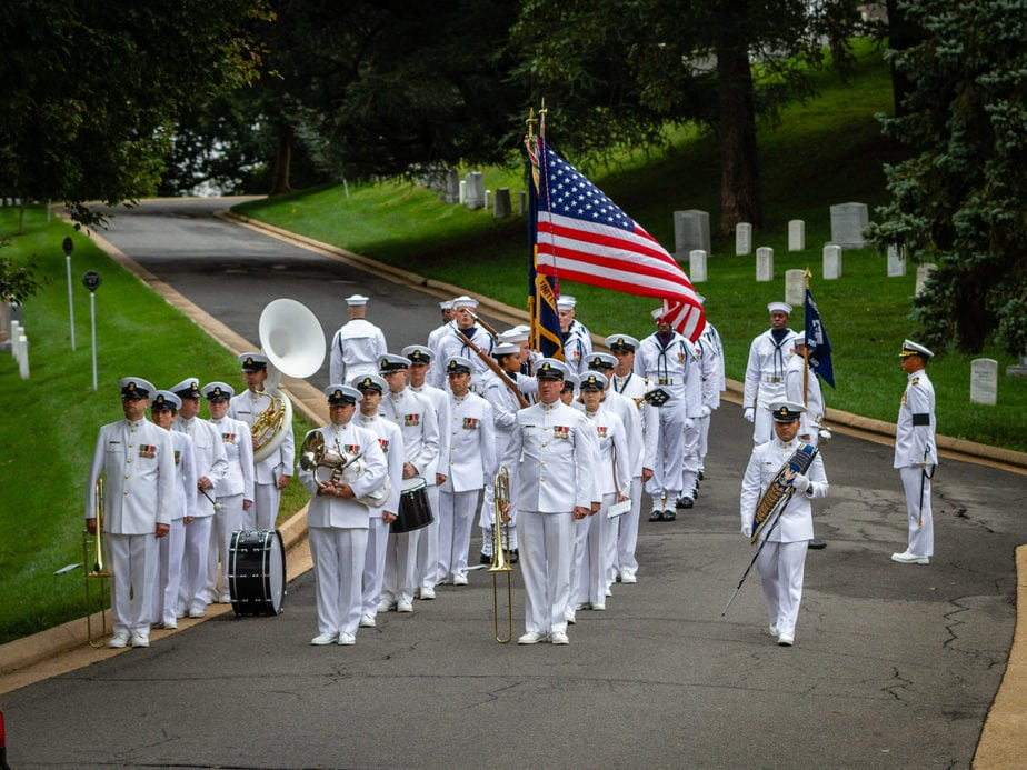 US Navy Band at Jessup Drive | Arlington National Cemetery | Arlington media, inc.