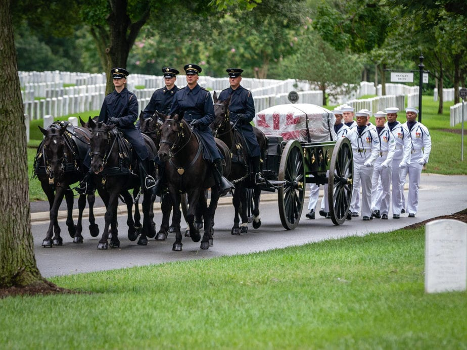 US Army Caisson on Marshall Drive | arlington cemetery funeral picture | Arlington media, inc.