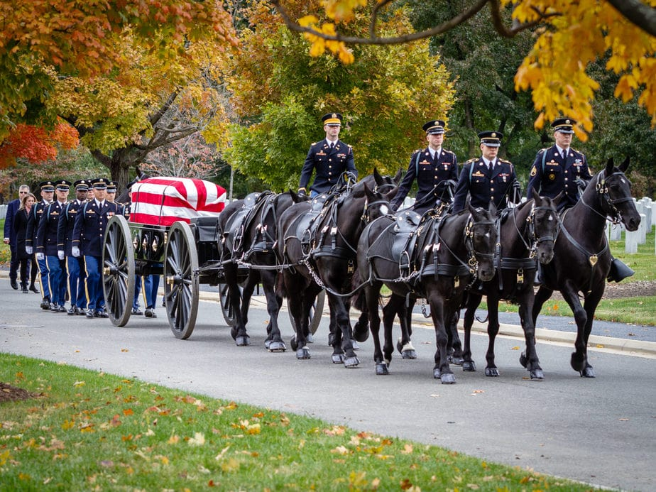 US Army Caisson on Eisenhower Drive | arlington cemetery funeral picture | Arlington media, inc.