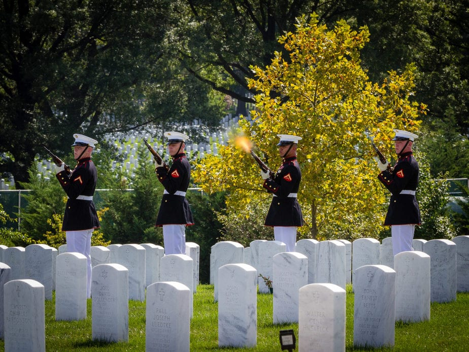 US Marine Firing Party in Section 62 Arlington National Cemetery | Arlington media, inc.