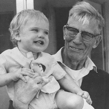 Clifford Crittenden with grand father Edwin Andress (1889-1987) c.1970 | Arlington Media, Inc.